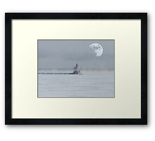 Harbour Moon Framed Print
