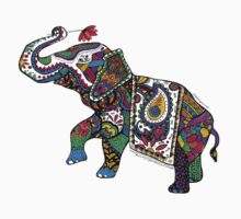 Elephant Zentangle Kids Tee