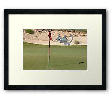 Golfing Kitty Framed Print