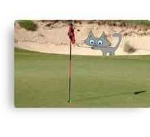 Golfing Kitty Canvas Print
