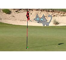 Golfing Kitty Photographic Print