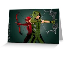 Green Arrow and Speedy ARROW Greeting Card