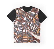 Abstract Map of Porter Square Cambridge Graphic T-Shirt