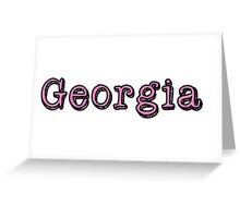 Georgia In The Shadows Greeting Card