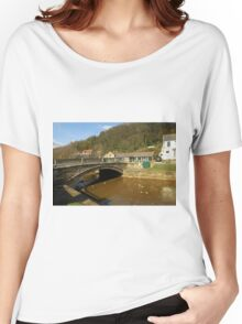 Stone Bridge Over East Row Beck, Sansend Women's Relaxed Fit T-Shirt