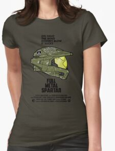 Full Metal Spartan Womens Fitted T-Shirt