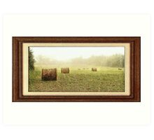 """""""Rainy Days and Hay Days"""" with a matted and framed look for prints and products Art Print"""