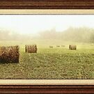 """Rainy Days and Hay Days"" with a matted and framed look for prints and products by © Bob Hall"
