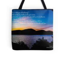 Bible Verse Matthew 6:9-13 Tote Bag