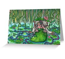 Swamp Goddess Greeting Card