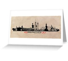 Cracow skyline Greeting Card