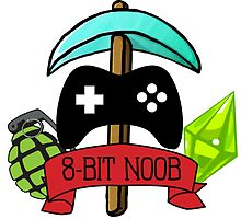 8-Bit Noob Logo by tylersneverland