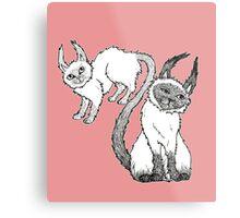 The Siamese Siamese Cat Metal Print