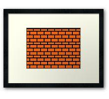 Super Mario Brick Pattern Framed Print