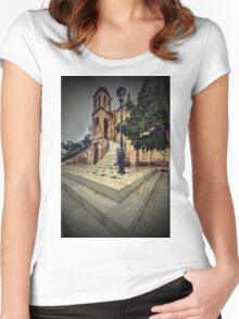 Just like in gothic times... Women's Fitted Scoop T-Shirt
