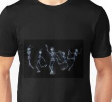 Dancing Skeletons X ray Unisex T-Shirt