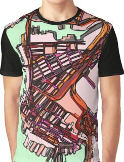 Abstract Map of East Boston Graphic T-Shirt