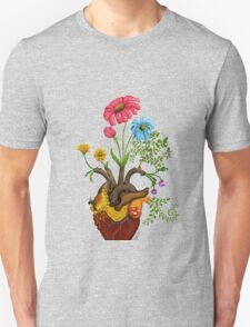 Harvest Peace, Grow Love - Bee Here Now Unisex T-Shirt
