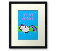 Unicorn of Awesome Framed Print