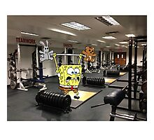 Spongebob Lifting Photographic Print