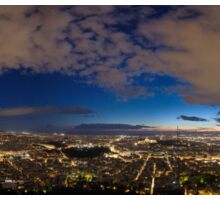 Athens panorama in the blue hour Sticker