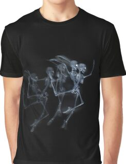 Dancing Skeletons X ray Graphic T-Shirt