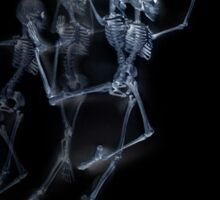 Dancing Skeletons X ray Sticker