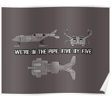 """Dropship - """"Five By Five"""" [Aliens] Poster"""