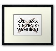 Nintendo samuraj! Framed Print