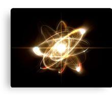 Atom Particle Canvas Print