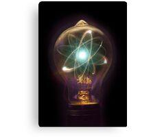 Lightbulb Atom Particle Canvas Print