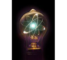Lightbulb Atom Particle Photographic Print