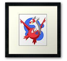Pokemon - Latias w/ background Framed Print