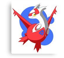 Pokemon - Latias w/ background Canvas Print