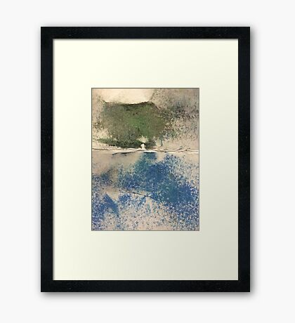 Smudges in Oil Pastel Framed Print