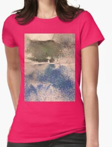 Smudges in Oil Pastel Womens Fitted T-Shirt