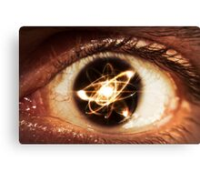 Atom Particle Eyes Canvas Print