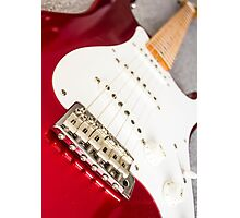Candy Red Fender Strat Photographic Print