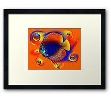 Discuremia V1 - abstract digital artwork, printable digital painting Framed Print
