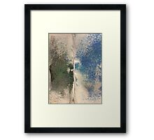 Smudges 2 in Oil Pastel Framed Print