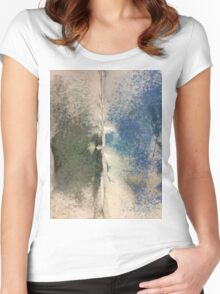 Smudges 2 in Oil Pastel Women's Fitted Scoop T-Shirt
