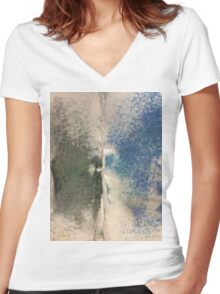 Smudges 2 in Oil Pastel Women's Fitted V-Neck T-Shirt