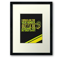 What's Your (Item) Number 2 Framed Print