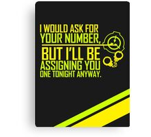 What's Your (Item) Number 2 Canvas Print