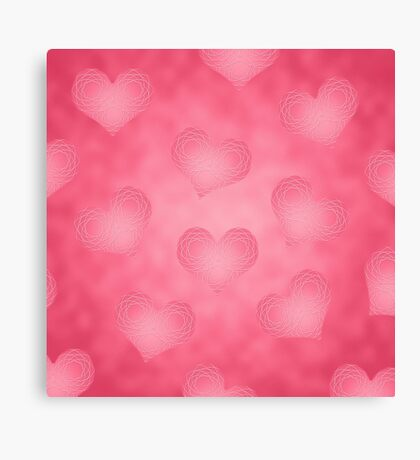 Valentine's Hearts Canvas Print