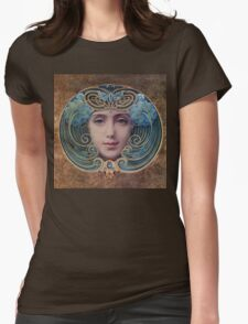 Graceful Vintage French Art Nouveau woman Womens Fitted T-Shirt