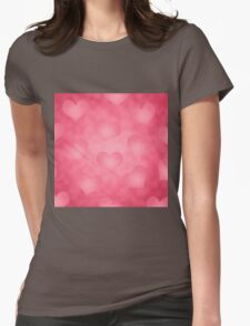 Valentine's Hearts Womens Fitted T-Shirt
