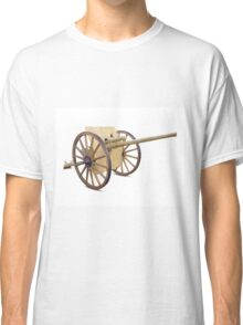 Antique Canon on White Classic T-Shirt