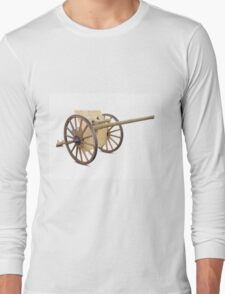 Antique Canon on White Long Sleeve T-Shirt