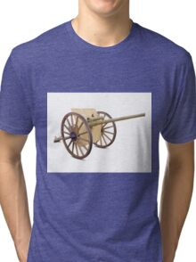 Antique Canon on White Tri-blend T-Shirt